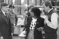 JUMPIN' JACK FLASH, Peter Michael Goetz, Jon Lovitz, Whoopi Goldberg, Stephen Collins, 1986, TM and Copyright (c)20th Century Fox Film Corp. All rights reserved.