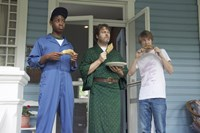 ME AND EARL AND THE DYING GIRL, (aka ME,& EARL & THE DYING GIRL), from left: RJ Cyler, Nick Offerman, Thomas Mann, 2015. ph: Anne Marie Fox/TM & copyright © Fox Searchlight Pictures. All rights reserved