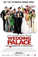 WEDDING PALACE, US poster art, Kelvin Han Yee (heart gesture), Bobby Lee (left), Brian Tee (center), KANG Hye-jeong (on computer), Margaret Cho (with fan), 2013. ©