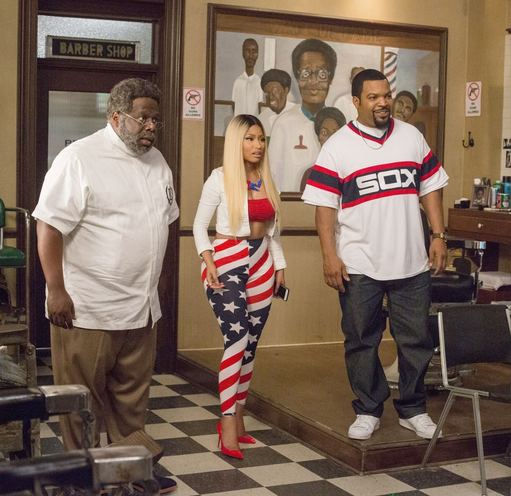 BARBERSHOP: THE NEXT CUT, from left: Cedric the Entertainer, Nicki ...