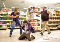 ZOMBIELAND, Woody Harrelson (left), Jesse Eisenberg (center), 2009. Ph: Glen Wilson/©Columbia Pictures