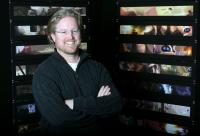 WALL-E, director and writer Andrew Stanton, on set, 2008. ©Walt Disney Studios Motion Pictures