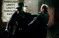 V FOR VENDETTA, Hugo Weaving,  Alister Mazzoti, 2006, (c) Warner Brothers