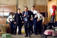 UNACCOMPANIED MINORS, Wilmer Valderrama (blue suit), Lewis Black (center, running), Rob Riggle, 2006. ©Warner Bros.