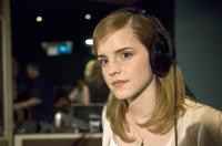 THE TALE OF DESPEREAUX, Emma Watson, voice of Princess Pea, on set, 2008. ©Universal