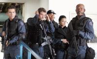 S.W.A.T., Colin Farrell, Brian Van Holt, LL Cool J, Michelle Rodriguez, Samuel L. Jackson, 2003, (c) Columbia