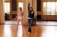 STEP UP, Jenna Dewan, director/choreographer Anne Fletcher, on set, 2006, ©Touchstone Pictures