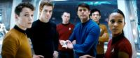 STAR TREK, from left: Anton Yelchin, Chris Pine, Simon Pegg, Karl Urban, John Cho, Zoe Saldana, 2009. ©Paramount
