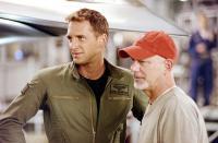 STEALTH, Josh Lucas, director Rob Cohen on set, 2005, © Columbia Pictures /