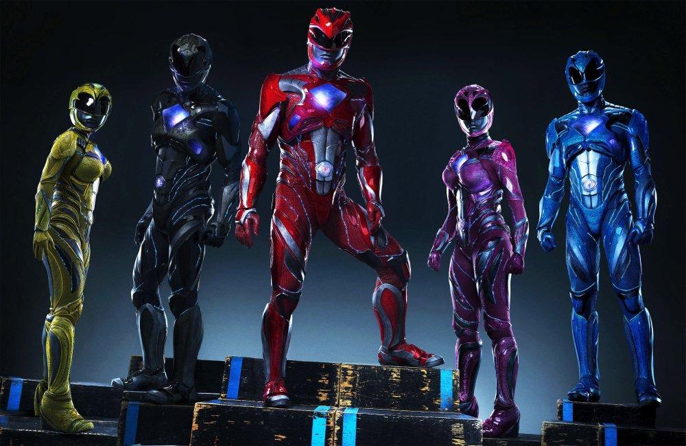 POWER RANGERS, From left: Becky G., Ludi Lin, Dacre Montgomery, Naomi Scott, RJ Cyler, 2017. ph: Tim Palen/© Lionsgate
