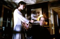 SINGLE WHITE FEMALE, from left: Jennifer Jason Leigh, Stephen Tobolowsky, 1992, © Columbia