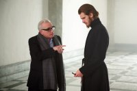 SILENCE, from left: director Martin Scorsese, Andrew Garfield, on set, 2016. ph Kerry Brown/© Paramount