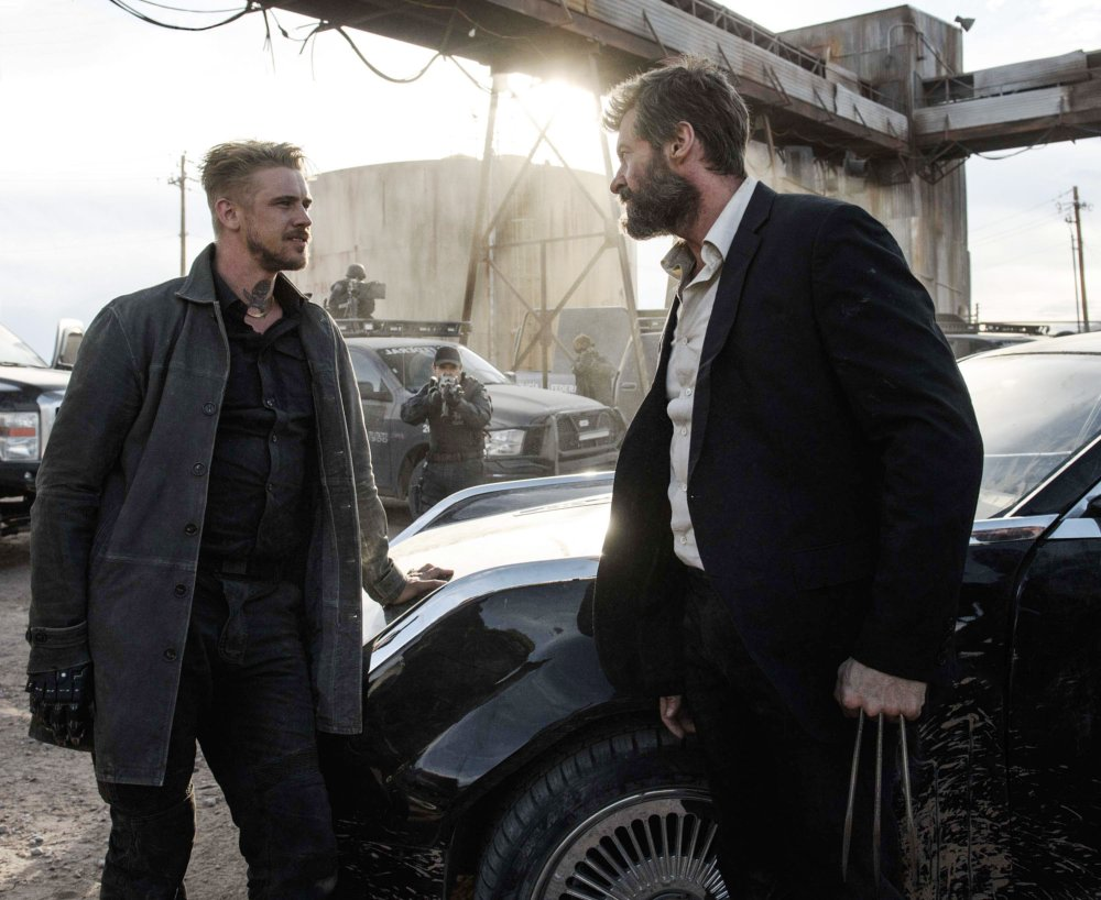 LOGAN, FROM LEFT, BOYD HOLBROOK, HUGH JACKMAN, 2017. PH: BEN ROTHSTEIN. TM & COPYRIGHT ©20TH CENTURY FOX FILM CORP. ALL RIGHTS RESERVED