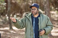 GET OUT, DIRECTOR AND SCREENWRITER JORDAN PEELE, ON SET, 2017. PH: JUSTIN LUBIN. © UNIVERSAL PICTURES