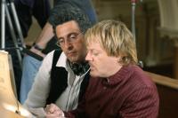ROMANCE & CIGARETTES, writer/director John Turturro, Eddie Izzard, on set, 2005, ©United Artists