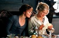 PRIDE AND PREJUDICE, Keira Knightley, Rosamund Pike, 2005, (c) Focus Features
