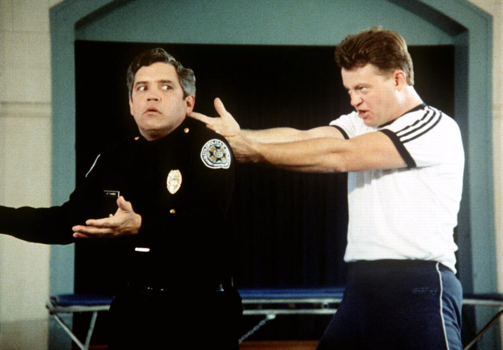 POLICE ACADEMY, G.W. Bailey, David Graf, 1984, (c) Warner Brothers