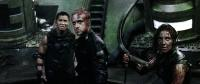 PANDORUM, from left: Cung Le, Ben Foster, Antje Traue, 2009. ©Overture Films