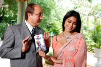 THE OTHER END OF THE LINE, from left: Anupam Kher, Shriya, 2008. ©MGM