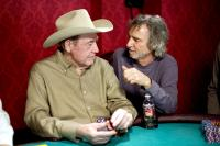 LUCKY YOU, Doyle Brunson, director Curtis Hanson, on-set, 2007. (c) Warner Bros. /