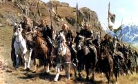 THE LORD OF THE RINGS: THE RETURN OF THE KING, Orlando Bloom, unknown, Bernard Hill (center), Karl Urban, Viggo Mortensen, 2003, (c) New Line