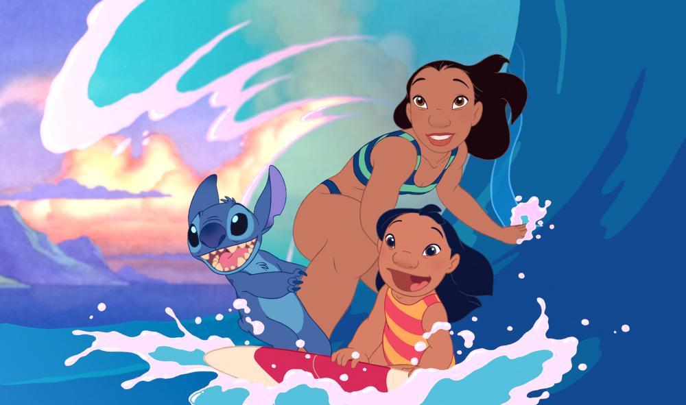 LILO & STITCH, Stitch, Nani, Lilo, 2002 (c) Walt Disney.