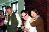 KINSEY, Liam Neeson, director Bill Condon, Laura Linney on set, 2004, (c) Fox Searchlight