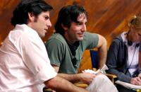 IN GOOD COMPANY, producer Chris Weitz, director Paul Weitz on set, 2004, (c) Universal