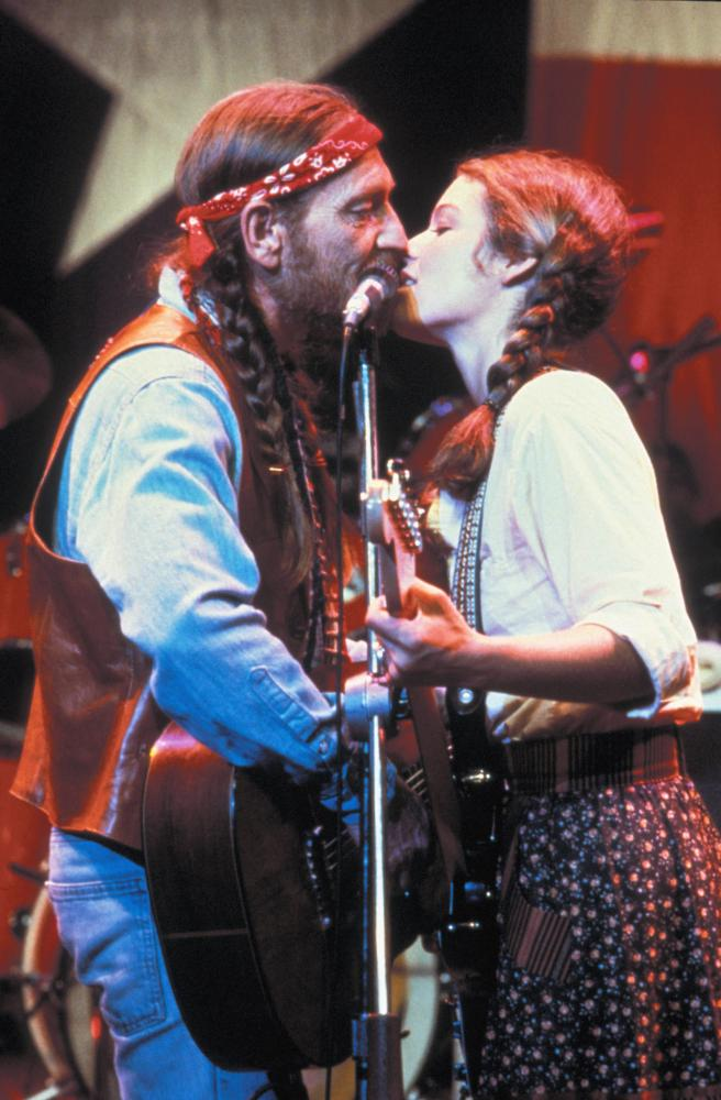 Amy Irving and willie nelson