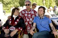 HOT ROD, Andy Samberg, producer Lorne Michaels, director Akiva Schaffer, on set, 2007. ©Paramount
