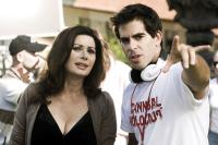 HOSTEL: PART II, Edwige Fenech, director Eli Roth, on set, 2007. ©Lions Gate