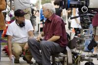 FLASH OF GENIUS, director Marc Abraham (left), cinematographer Dante Spinotti, on set, 2008. ©Universal
