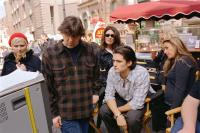 ELIZABETHTOWN, Kirsten Dunst, director Cameron Crowe, producer Paula Wagner, Orlando Bloom on set, 2005, (c) Paramount