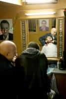 EASTERN PROMISES, Mina E. Mina (left, top right in mirror), Josef Altin (front right), Aleksandar Mikic (in mirror, bottom), 2007. ©Focus Features