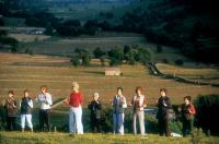 CALENDAR GIRLS, Celia Imrie, Julie Walters, Rosalind March, Helen Mirren, Annette Crosbie, Georgie Glen, Penelope Wilton, Linda Bassett, Angela Curren, 2003, (c) Touchstone