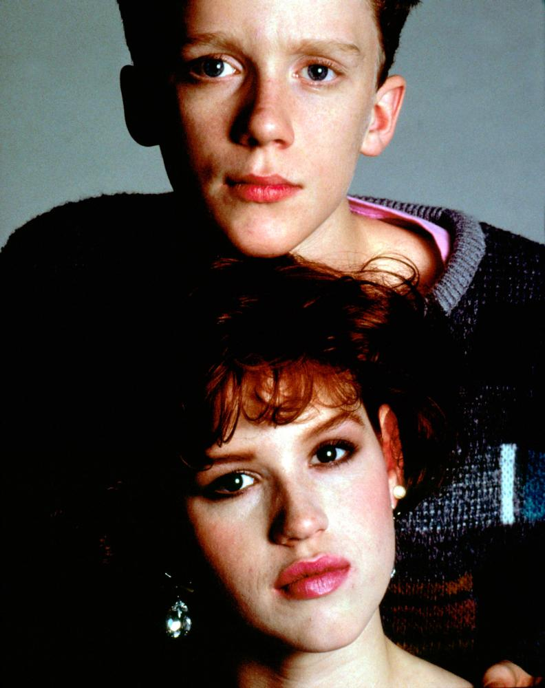 THE BREAKFAST CLUB, Anthony Michael Hall (top), Molly Ringwald, 1985, © Universal