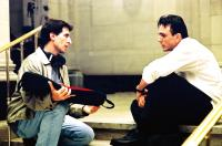 SHATTERED GLASS, Director Billy Ray, Hank Azaria on the set, 2003, (c) Lions Gate