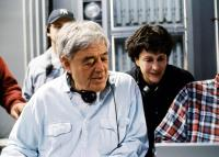 TIMELINE, Director Richard Donner, producer Lauren Shuler Donner on the set, 2003, (c) Paramount