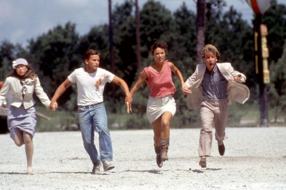 MAXIMUM OVERDRIVE, Yeardley Smith, Emilio Estevez, Laura Harrington, 1986, (c)De Laurentiis Entertainment Group