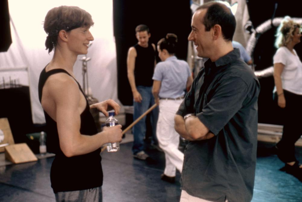 CENTER STAGE  Ethan Stiefel  director Nicholas Hytner  on set  2000    Ethan Stiefel Center Stage