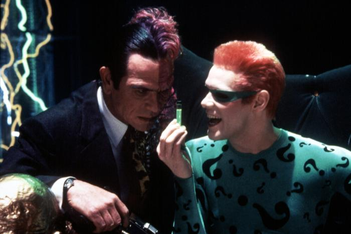 BATMAN FOREVER, Tommy Lee Jones, Jim Carrey, 1995