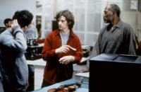 RED VIOLIN, screenwriter Don McKellar, director Francois Girard, Samuel L. Jackson, on set, 1998. (c)Lions Gate