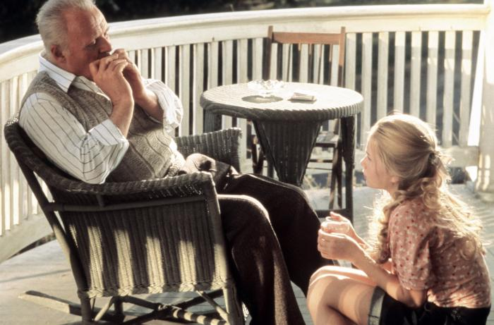 HEARTS IN ATLANTIS  from left  Anthony Hopkins  Mika Boorem  2001    Mika Boorem Hearts In Atlantis