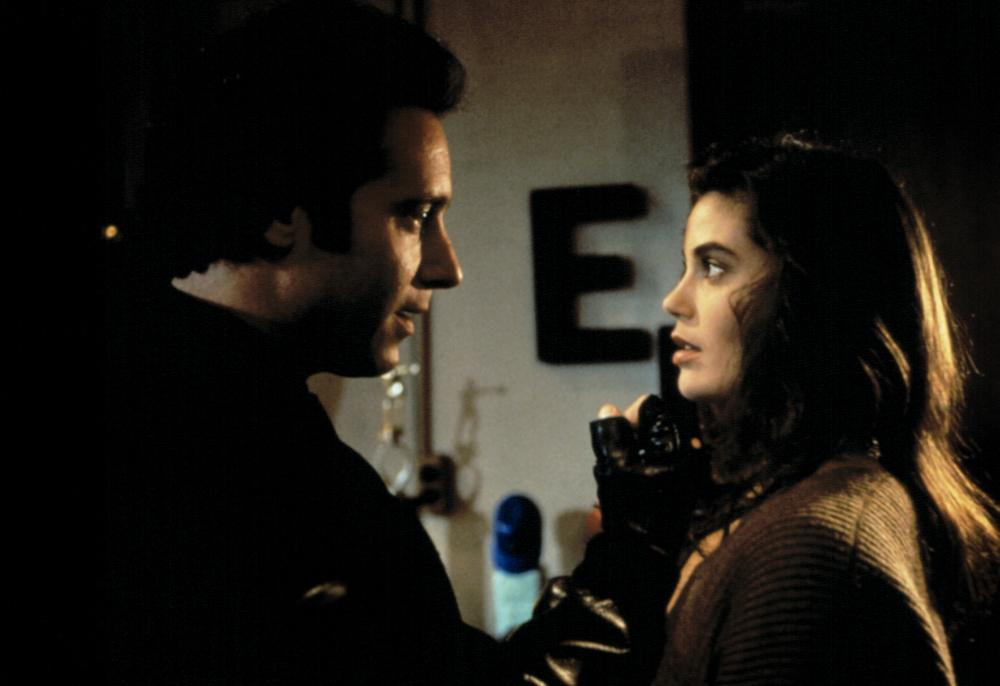 BRAIN SMASHER, Andrew Dice Clay, Teri Hatcher, 1993, © Trimark Pictures