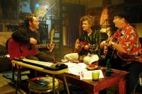 WONDERFUL WORLD, from left: Matthew Broderick, Dan Zanes, James Burton, 2009. ©Magnolia Pictures