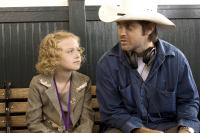 DREAMER:INSPIRED BY A TRUE STORY, Dakota Fanning, John Gatins (director), on-set, 2005, (c) DreamWorks
