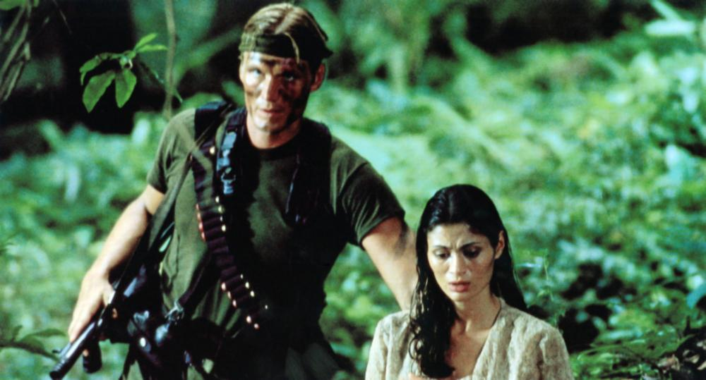 MEN OF WAR, from left: Dolph Lundgren, Charlotte Lewis, 1994, © Dimension Films
