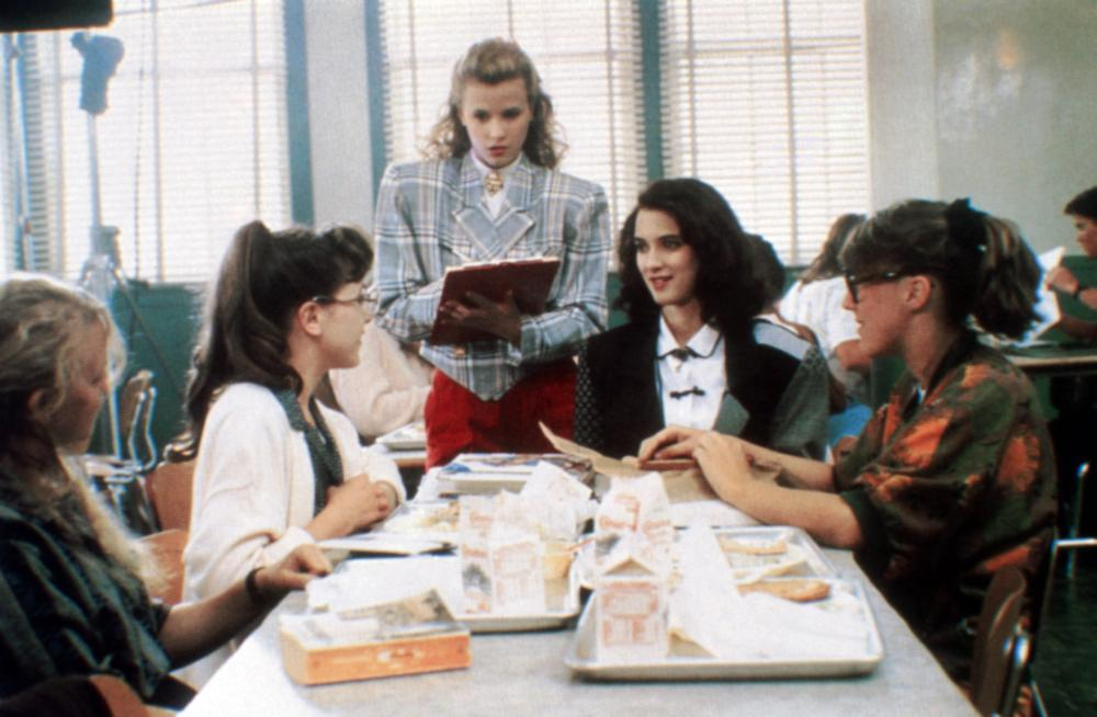 Kim Walker Actress Heathers Heathers Kim Walker Standing Winona Ryder Seated Facing Front