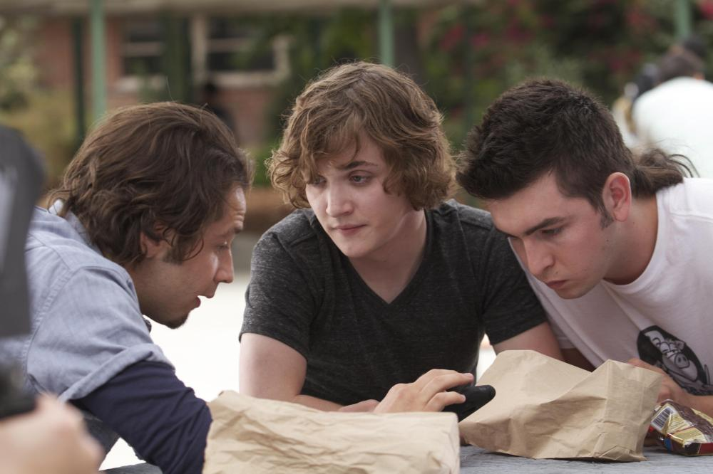 RED STATE, from left: Michael Angarano, Kyle Gallner, Nicholas Braun, 2011. ph: Tony Rivetti Jr/©SModcast Pictures