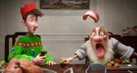 ARTHUR CHRISTMAS, from left: Arthur (voice: James McAvoy), Grandsanta (voice: Bill Nighy), 2011. ©Columbia Pictures